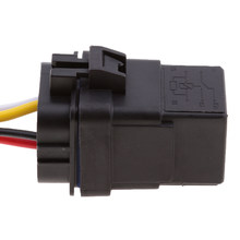12V Relay 4 PIN Automotive 40AMP 40a 4 Wire Relay Socket Plug(China)