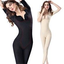 Beonlema Women Body Modeling Shaper Full Long Leg Shapewear Seamless Short Arm Shapers Slimming Underwear Plus Size Bodysuit