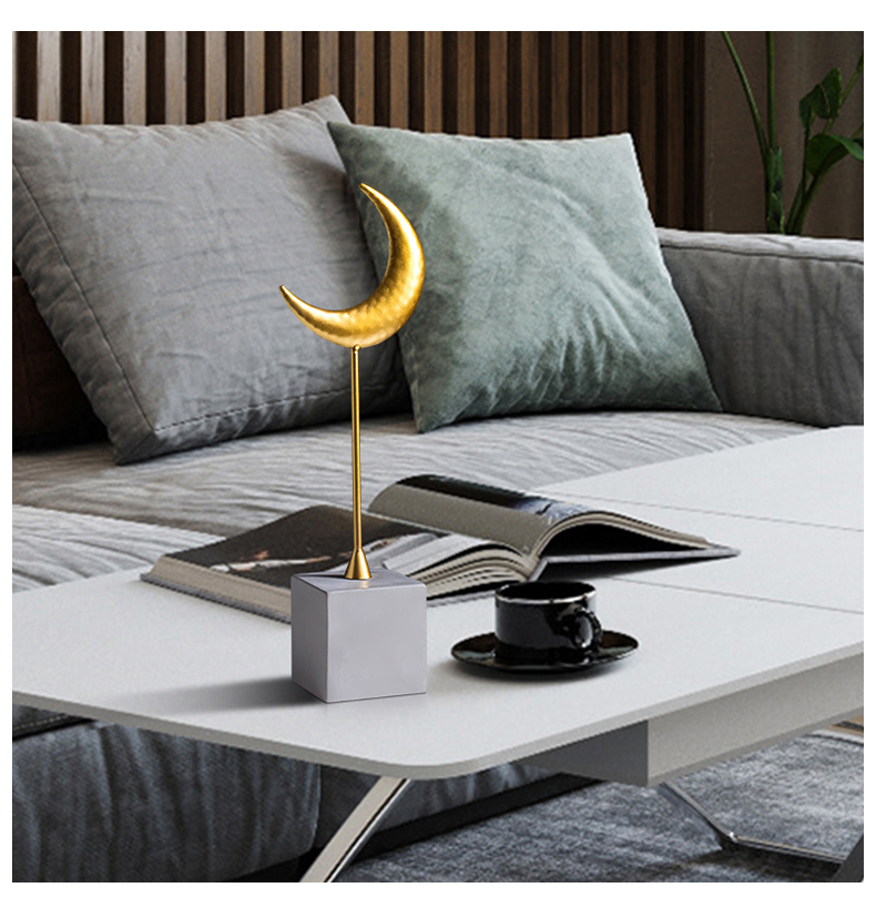 Nordic Creative Home Modern Simple Resin Decoration Moon Planet Living Room TV Cabinet Shop Decoration Decoration