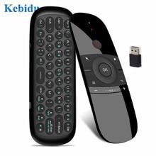 W1 kablosuz klavye uzaktan kumanda klavye 2.4G sinek hava fare için ahududu android akıllı tv kutusu rusça İngilizce sürüm