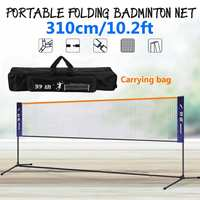 Portable Badminton Volleyball Tennis Net 310cm Width Adjustable Height Sport Badminton Net kit With Stand/Frame and Carry Bag