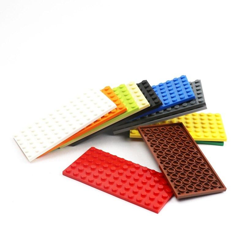 20 шт. городские строительные блоки, 3028 опорная пластина 6х12 точек, двухсторонние DIY детали для сборки кирпича, Классические строительные игр...