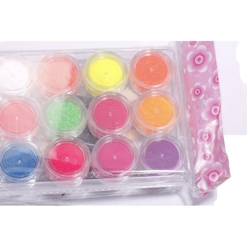 Neon Pigment Nail-Powder Glitter Phosphor Dust 12-Jar/Set Hot-Sale