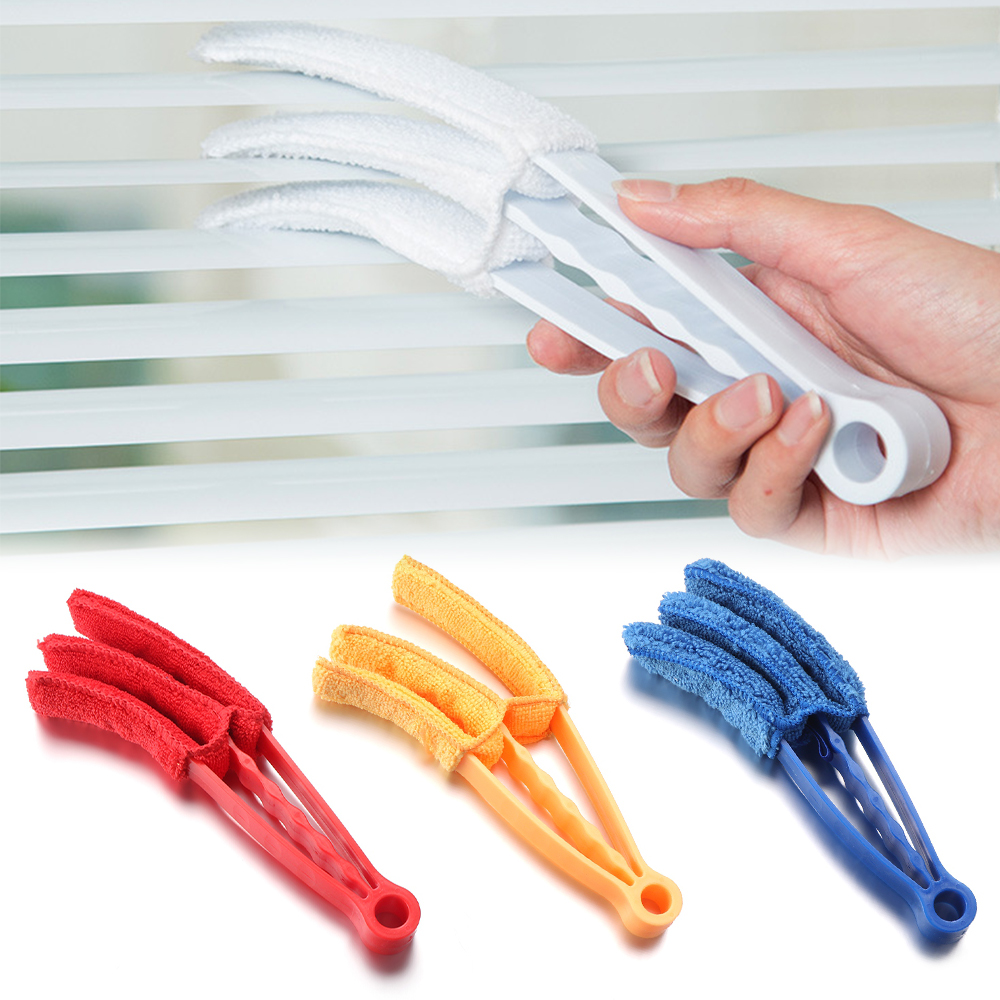 Микрофибра Съемная моющаяся щётка для чистки с зажимом Бытовая тряпка окно листья приспособление для чистки жалюзи кисти инструмент