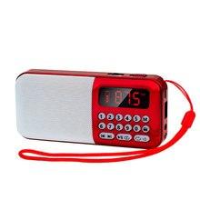 راديو محمول FM قابلة للشحن مكبر الصوت اللاسلكي TF بطاقة قرص USB أجهزة الراديو مشغل MP3 راديو FM صغير مع جاك سماعة