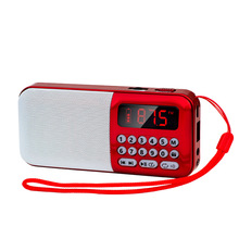 Portable Radio FM Rechargeable Wireless Speaker TF Card USB Disk Radios MP3 Player Mini FM Radio with Earphone Jack