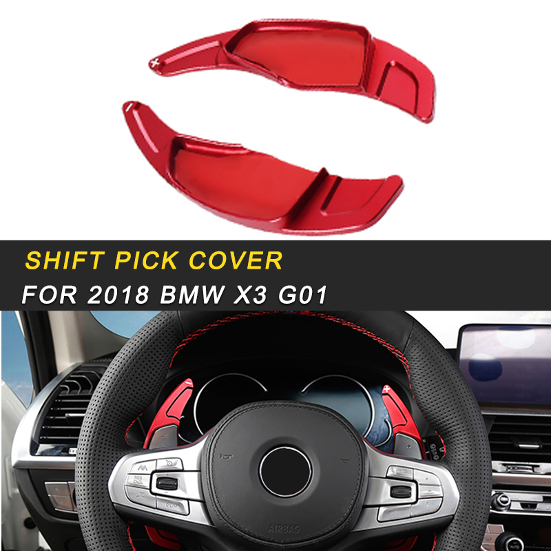 for 2018 <font><b>2019</b></font> <font><b>BMW</b></font> X3 G01 <font><b>X4</b></font> G02 Car Steering Wheel Shift Pick Cover Trim Frame Sticker <font><b>Accessories</b></font> Auto Fastener Clip image
