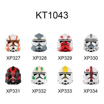 KT1043 322 91 327 Legion Kamino Guard Inferno Squad Soldier seria filmów cegły figurki głowy Buiding bloki zabawki dla dzieci tanie i dobre opinie tmgt CN (pochodzenie) Unisex 6 lat Certyfikat AGC11062200801-T001 KT1043 XP327 XP328 XP329 XP330 XP331 XP332 XP333 XP334