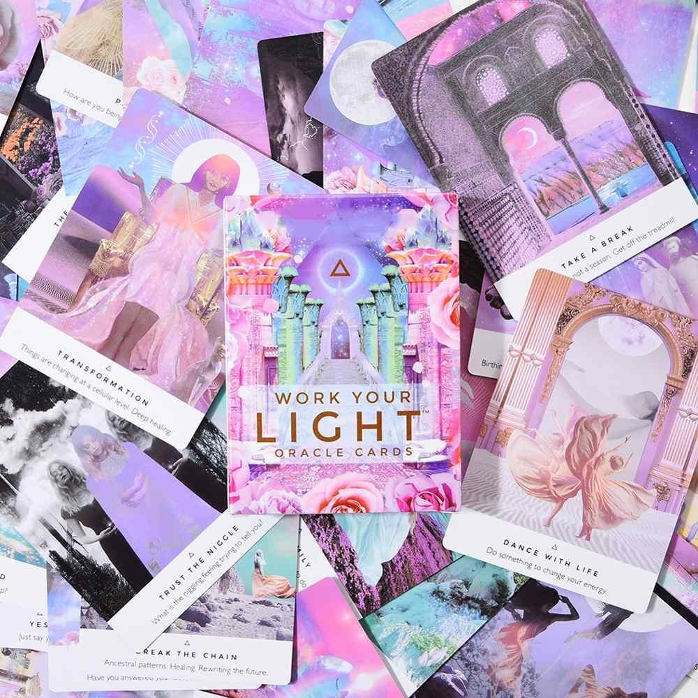44 pièces/pack travaillez votre lumière Oracle cartes pleine partie anglaise jouer Deck carte jeu de société conseil Divination Tarot cartes