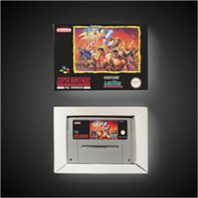 Final Fight 3   EUR Version Action Game Card with Retail Box
