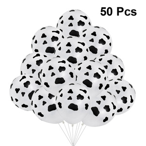 100 Pcs Latex Balloon Cow Color Black-White Decorated Attractive Party Ceremony Anniversary Balloon