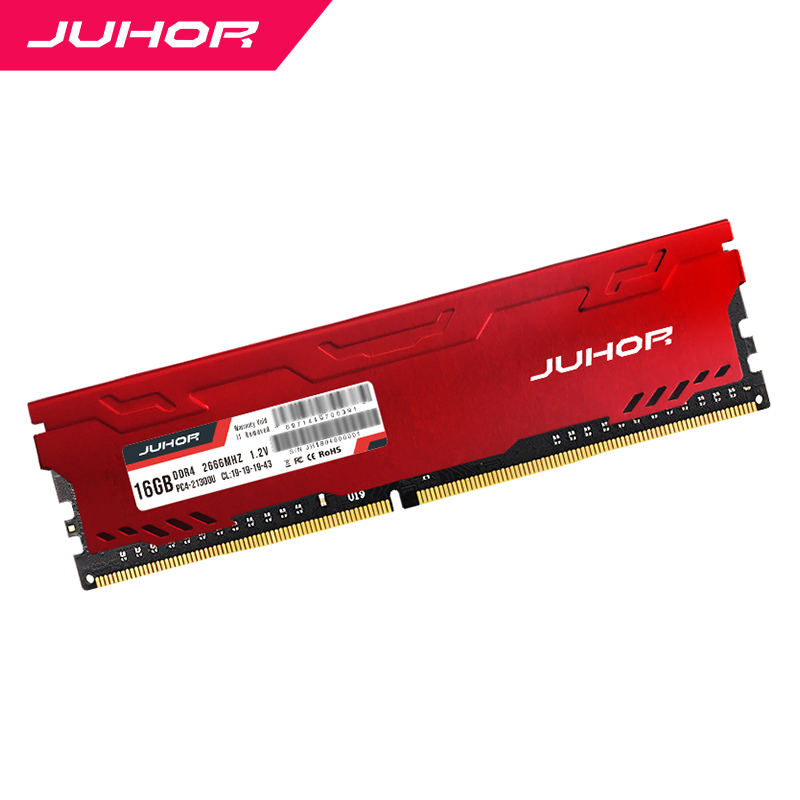 JUHOR <font><b>ddr4</b></font> in <font><b>RAMS</b></font> 4gb <font><b>8gb</b></font> 16gb Desktop Memory with Heat udimm 2133mhz 2400mhz 2666mhz 3000mhz PC <font><b>RAM</b></font> 1.2V New dimm Ship memoria image