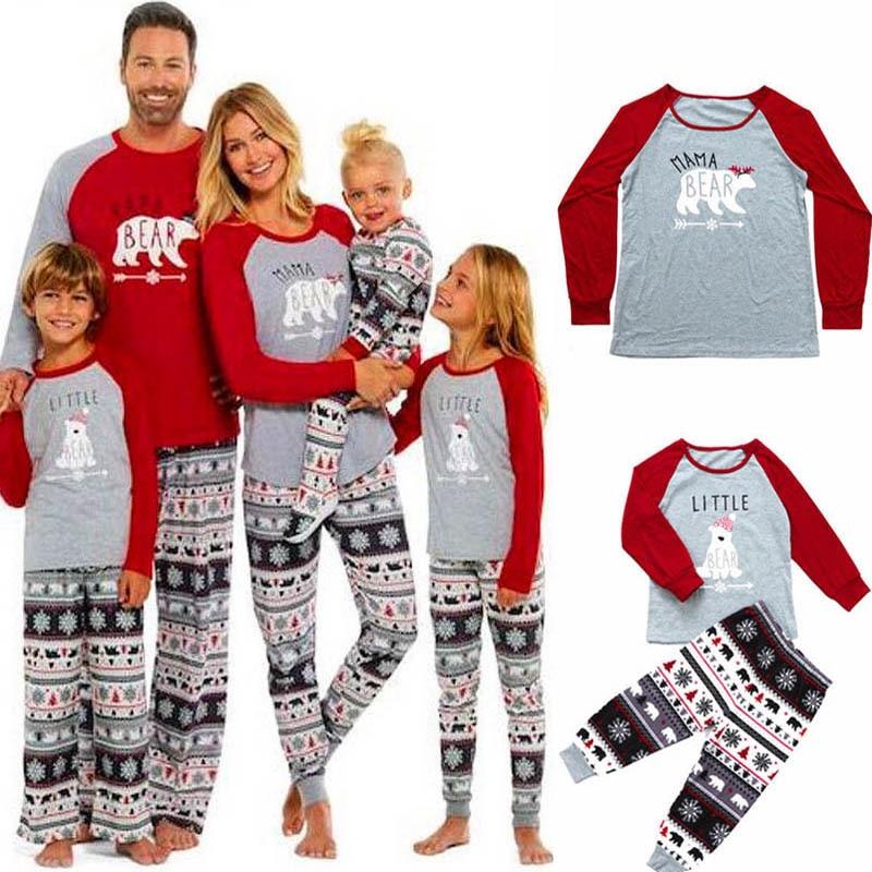 Adult Kids Pajamas Sleepwear Family Matching Clothes