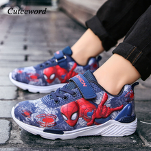 Fashion Spiderman Boys Shoes Spring and Autumn New Light Bre
