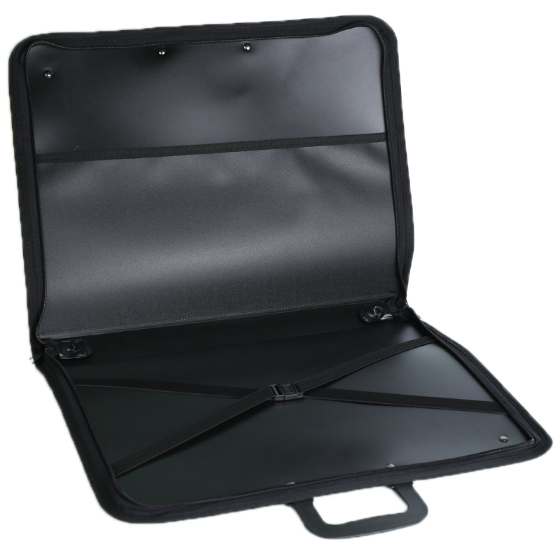Black PVC-Shoulder Waterproof Professional Bag A3 Collection Bag Painting Kits Drawing Board Bags