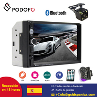 Podofo 2din Car radio 7'' HD Player MP5 Support Android Phone Mirror Link Touch screen Bluetooth FM AUX USB SD