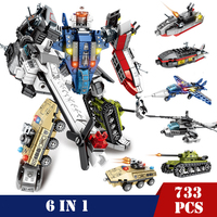 Transformer Mech Robots City Vehicle Soldiers Building Blocks Toys Compatible Legoed Technic Bricks DIY Gift Toys for Children