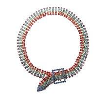 Multicolor Full Rhinestone Choker Necklace Women Sexy Shiny Statement Crystal Collar necklaces Bijoux gargantilla Club Jewelry