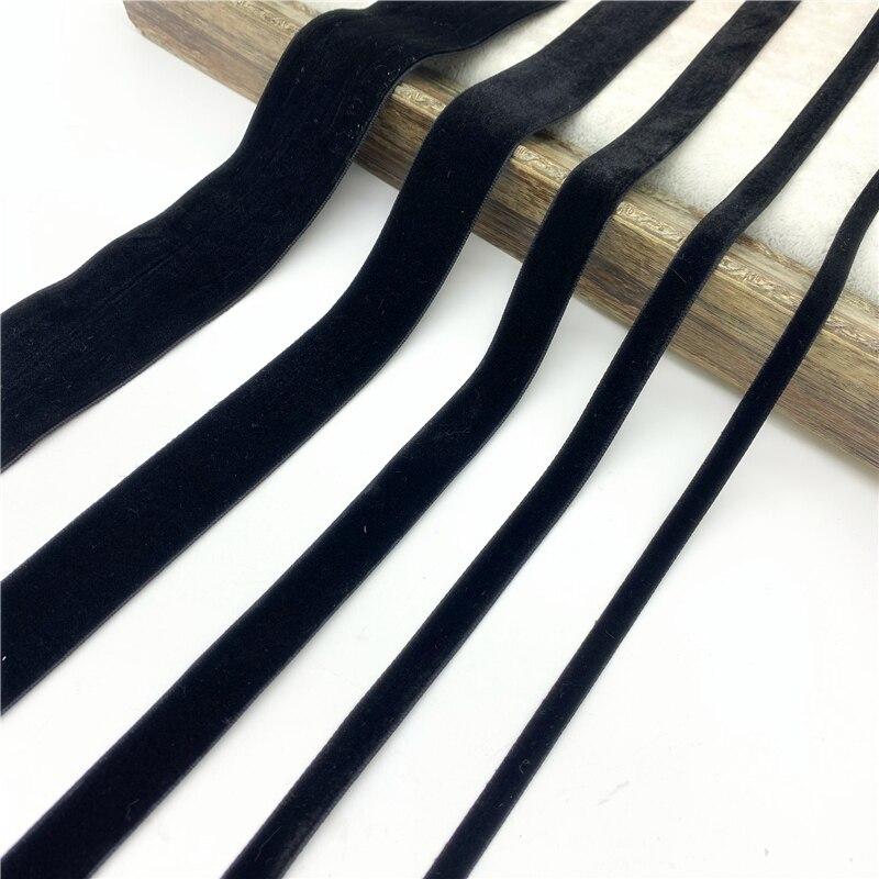 6 мм-38 мм черная бархатная лента для ручной работы, подарочная упаковка, товары для дома, вечерние украшения, рождественские ленты