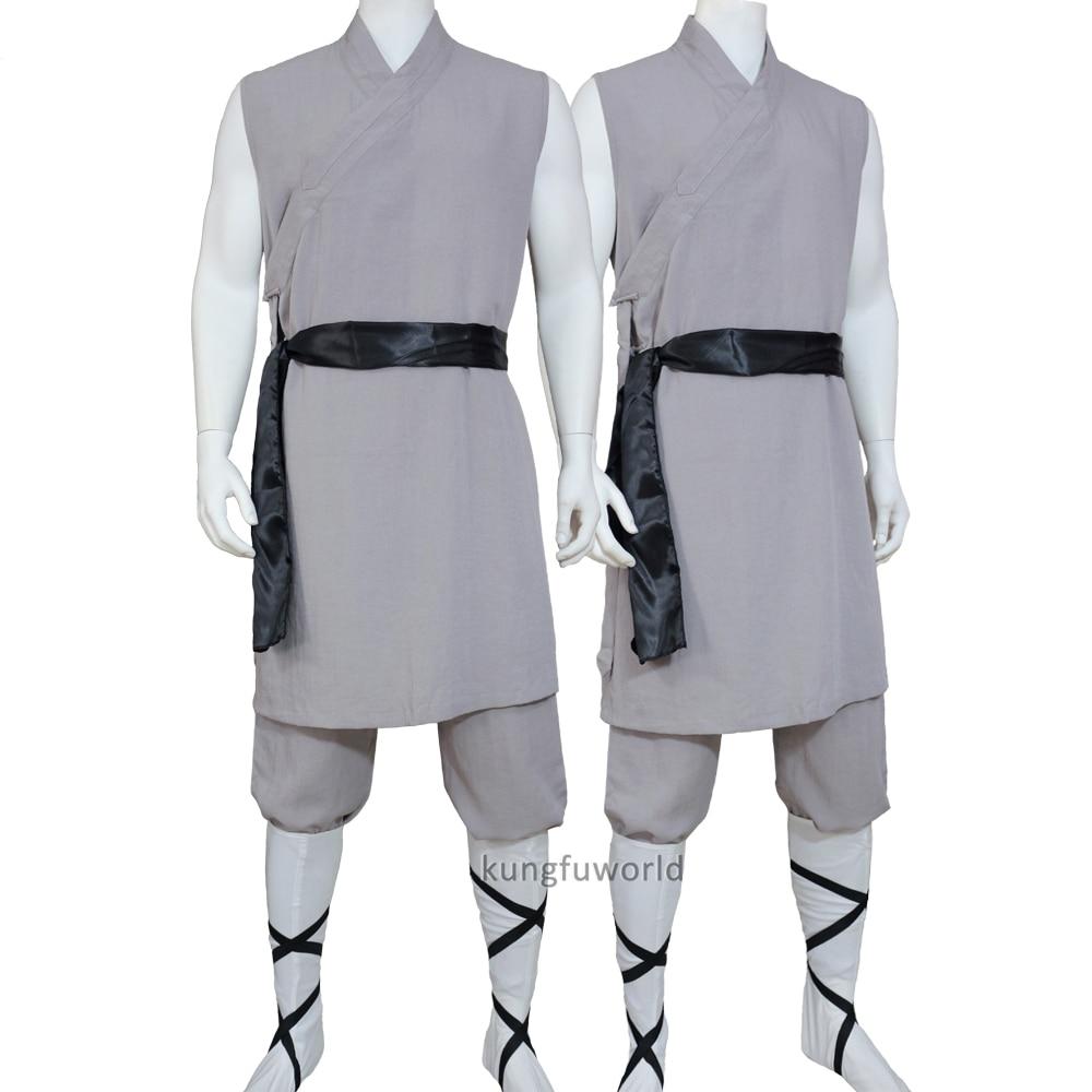 Beautiful Shaolin Monk Summer Kung Fu Suit Wushu Tai Chi Uniforms Sleeveless Martial Arts Clothes