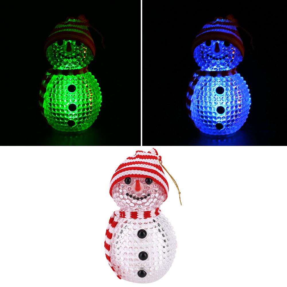 Fantasy Night Light LED Snowman Flashing Christmas Gift Table Decoration