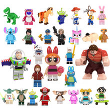legoingly Building Blocks Cartoon Movie toy story 4 E.T. Elliott Stay Puft Finn Gizmo stitch Angie Sonic toys for children(China)
