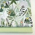 Зеленый лист сетки печатных DIY Одежда стеганой декор подушки 100% хлопок ткань для дома тканевые простыни материал ttecido