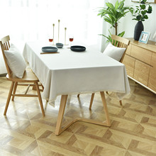 Modern Solid Color Tablecloth Waterproof Table Cloth Cotton and Linen Nordic Style Table Cover Rectangular цена 2017