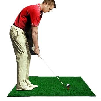 цена на 60x30cm Golf Mat Golf Training Aids Outdoor/Indoor Hitting Pad Practice Grass Mat Game Golf Training Mat Grassroots