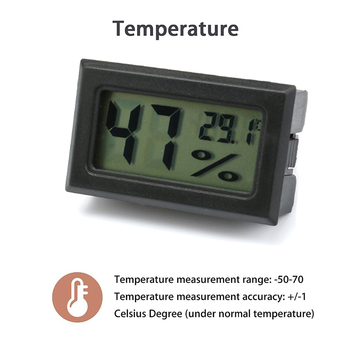 Mini Digital Humidity Meter Thermometer Hygrometer Sensor Gauge LCD Temperature Refrigerator Aquarium Monitoring Display Indoor 2