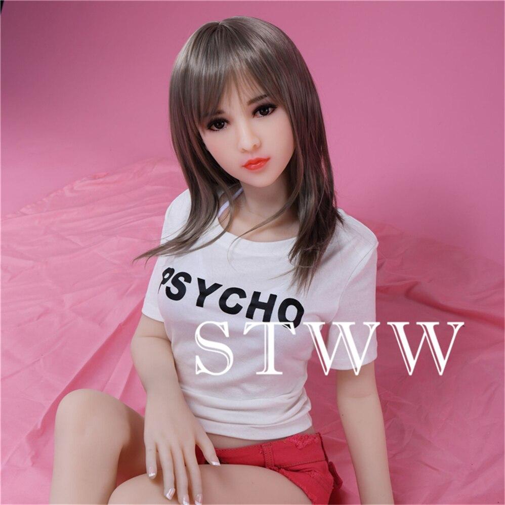 STWW 100cm Silicone Sex Dolls With Metal Skeleton Full Size Lifelike Breast Vagina Love Dolls Adult Sexy Dolls