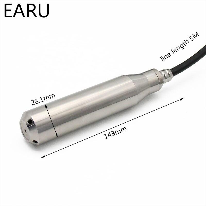 1 ensemble 4-20MA sortie huile liquide intégrale capteur de niveau d'eau transmetteur détecter contrôleur flotteur interrupteur étanche montage boîte pompe - 4