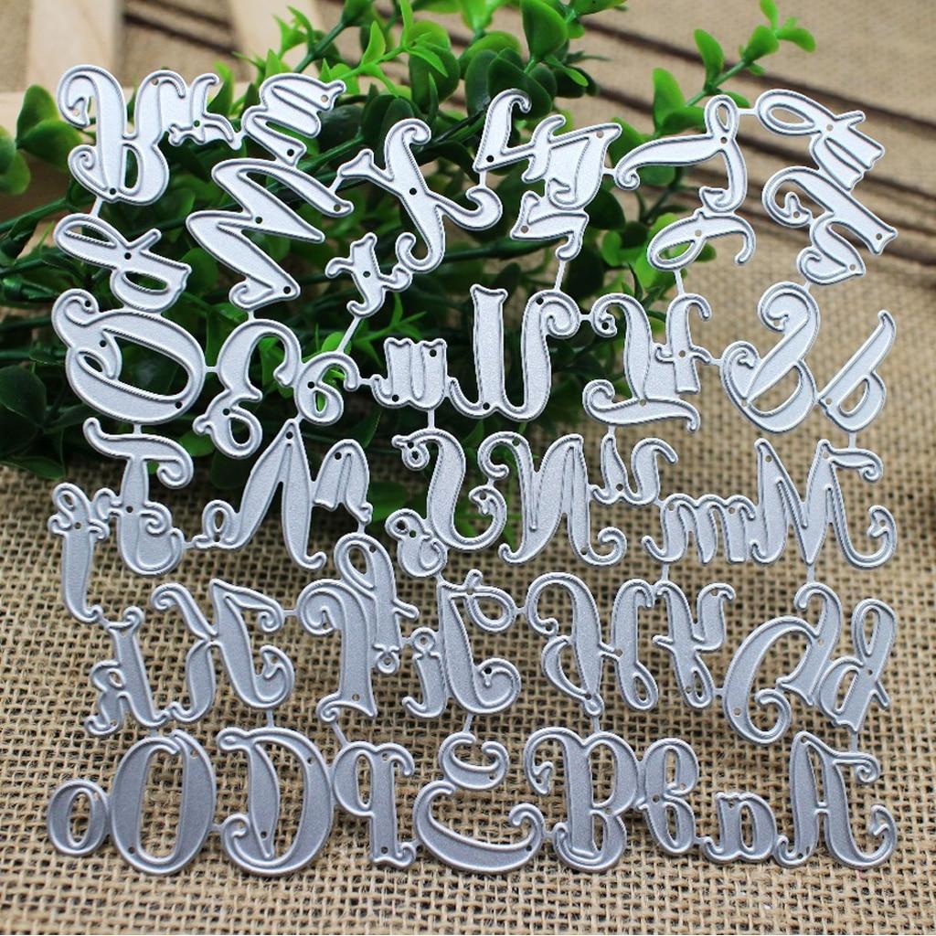 26 Capital & прописные и строчные буквы алфавита металлические штампы несколько узоров Вырубные штампы Скрапбукинг тиснение штампы трафареты карты штампы