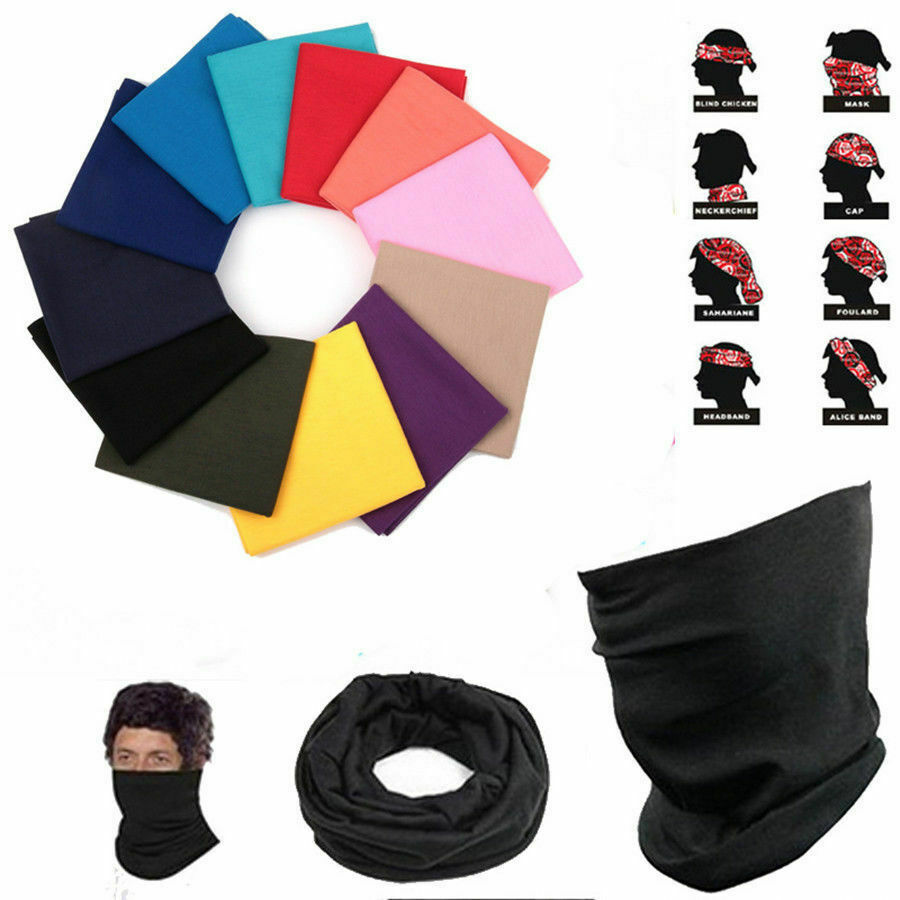 Bandana Headband Seamless Face Mask Magic Scarf Outdoor Sports Bicycle Cycling Headwear Neck Tubular Tube Ring Unisex Scarves