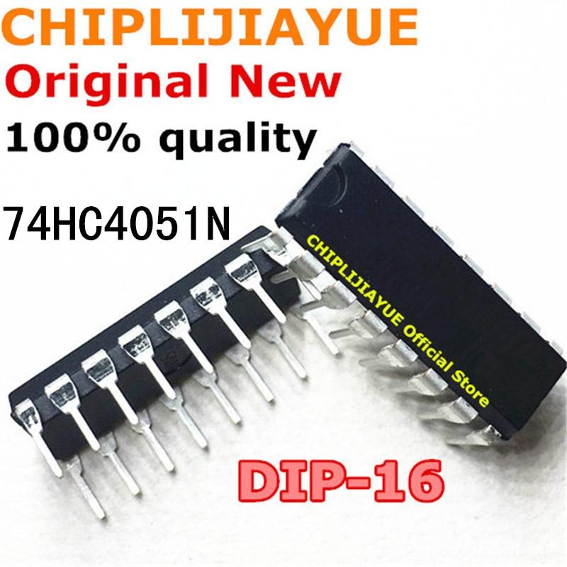 10PCS 74HC4051N DIP-16 SN74HC4051N 74HC4051 DIP16 DIP IC Chips BGA Chipset