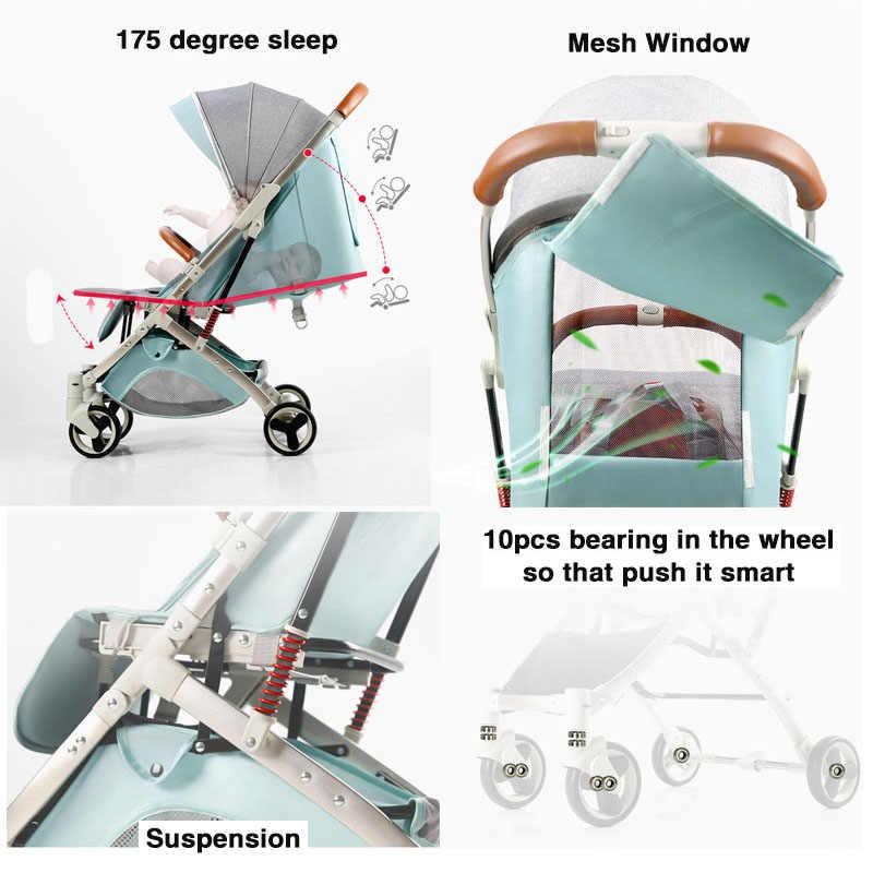 5.8Kg Licht Wandelwagen Hoge Landschap Wagen Draagbare Paraplu Kinderwagen Pasgeboren Travelling Kinderwagen Op Vliegtuig Gratis Verzending