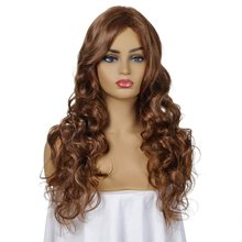 Loose Deep Hair Synthetic Wigs For Women Brown Color Wigs Medium Long Synthetic Wig 20 inches Heat Resistant Fiber Synthetic Wig(China)
