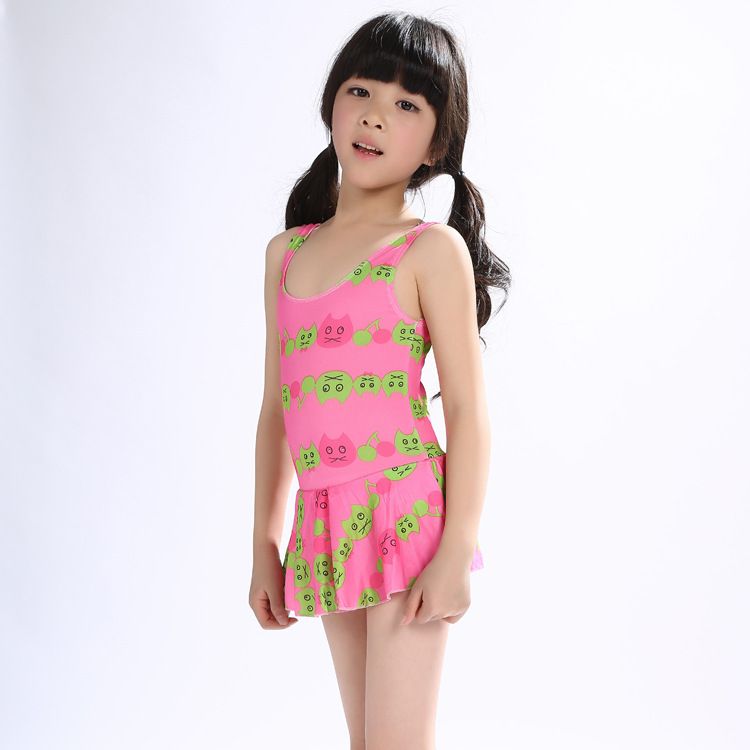 KID'S Swimwear Women's Medium CHILDREN'S Swimwear Korean-style Split Skirt-Large Size GIRL'S Swimsuit Hot Springs