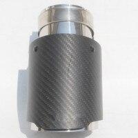 Carantly 1 adet giriş (63mm) çıkış (89mm) karbon egzoz ucu/susturucu boru B MW B ENZ bir UDI vw araba aksesuarları Akrapovic