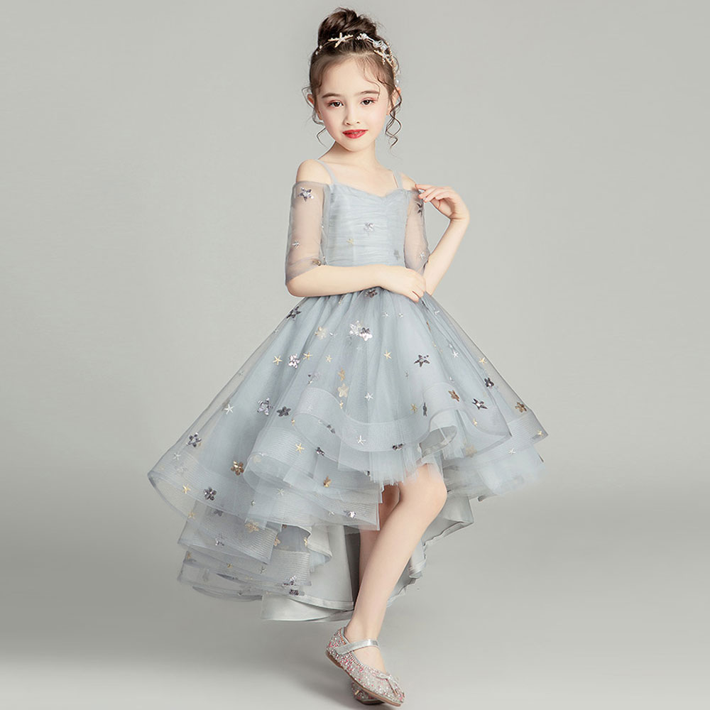 2019New Children party clothing   flower     girl     dresses   for weddings vestidos de primera comunion baby pageant ball gown costume