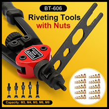 BT-606/05/17 Riveter Gun tool Hand Insert Rivet Nut Tool BT-606 Double Insert Manual Rivet Machine Riveting Tools with Nuts