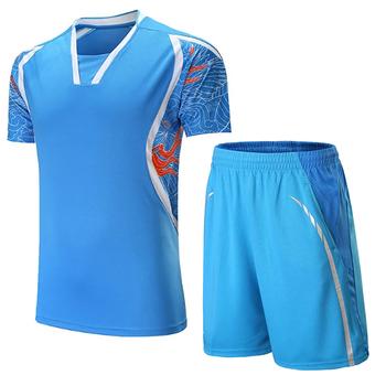 Mężczyźni kobiety dres Jersey szorty mundury oddychająca koszula Badminton stół odzież tenisowa gra zespołowa odzież sportowa odzież sportowa tanie i dobre opinie HAMEK Poliester Krótki 201+601 Anty-pilling Anti-shrink Przeciwzmarszczkowy Szybkie suche Koszule Pasuje prawda na wymiar weź swój normalny rozmiar