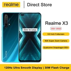 Realme X3 Mobile Phone  6.6 '' FHD Snapdragon 855+  64MP Quad Rear 60X Super Zoom Camera 4200mAh  8GB 128GB NFC Smartphone