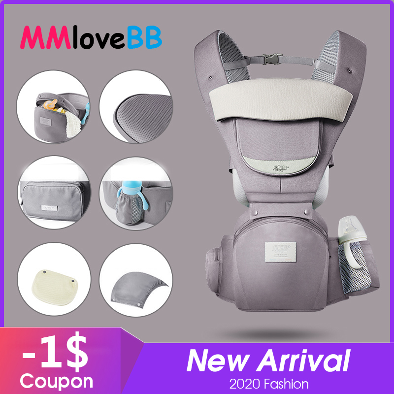 MMloveBB Ergonomic Baby Carrier Infant Baby Hipseat Waist Carrier Front Facing Ergonomic