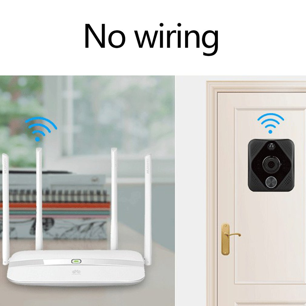 Small Smart Home Wifi Video Doorbell Mobile Phone Remote Video Surveillance Voice Intercom Wireless Doorbell