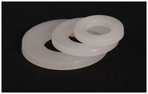 Arruelas de nylon M2 M3 M4 M5 M6 M8 M10 * 25 M12 M14 M16 M20 M3 * 6*0.5 parafusos da junta de Plástico rígido transparente Nylon paded planas