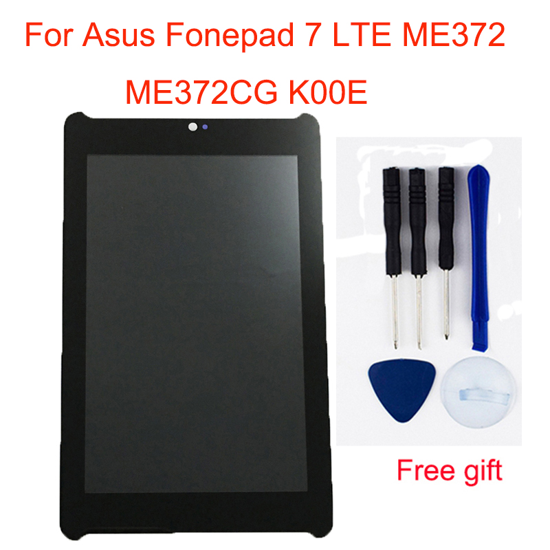 For <font><b>Asus</b></font> Fonepad 7 LTE ME372 ME372CG <font><b>K00E</b></font> Touch Screen Sensor Digitizer Glass + LCD Display Panel Monitor Module Assembly image