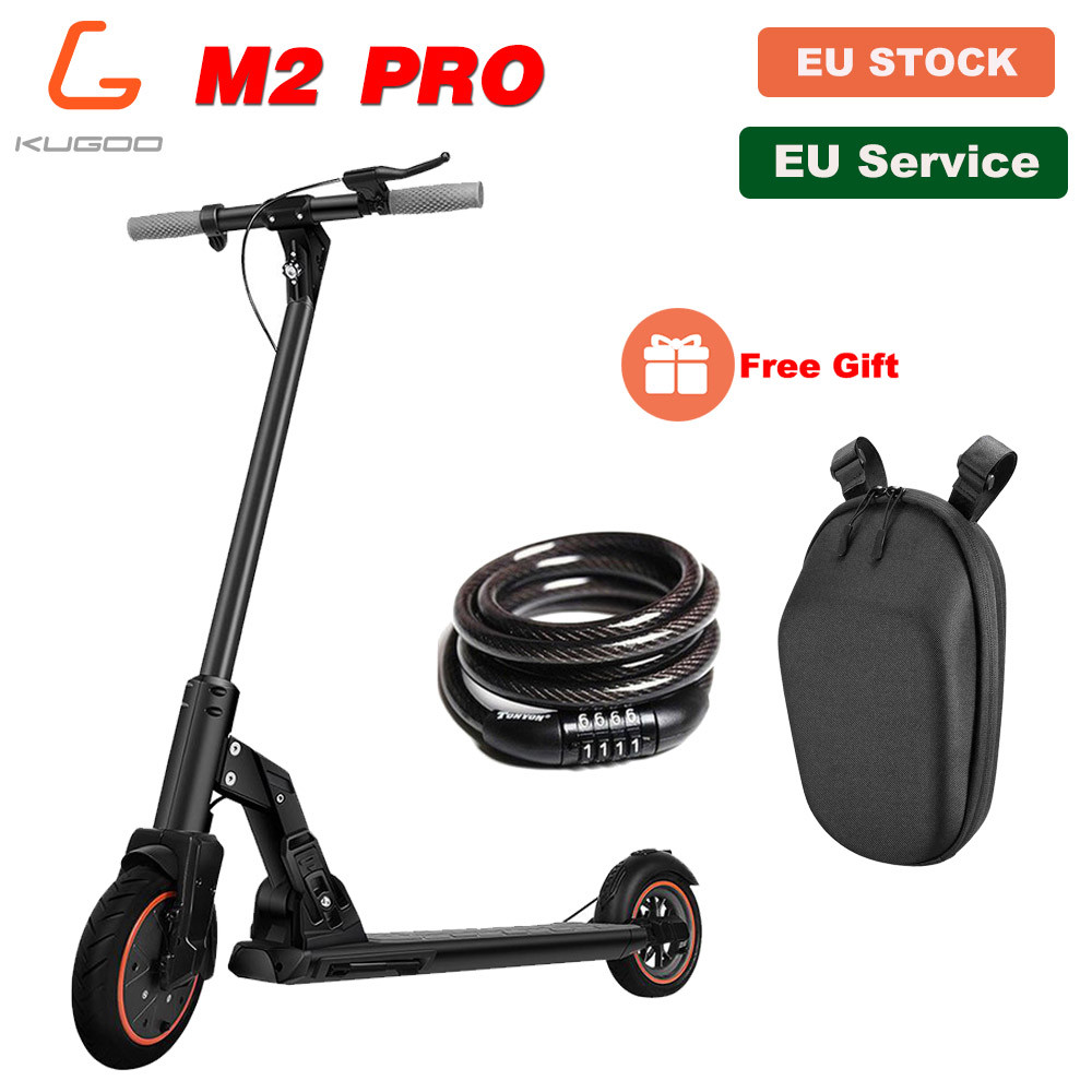 [EU STOCK]KUGOO M2 PRO Folding Electric Scooter 350W30KM/H Adult Scooter Disc Brake 8.5Inches Vacuum Tire APPControl LCD Display