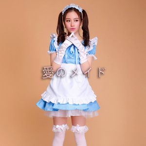 Image 5 - Cafe Restaurant Maid Wear Waiter Professional Uniform Short Skirt Anime Servant Cosplay Costume Sweet lolita Clothes