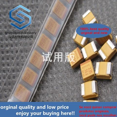 30pcs 100% Orginal New Patch Tantalum Capacitor TAJB335M016RNJ 3.3UF 16V 3528 B Type Bile Capacitor